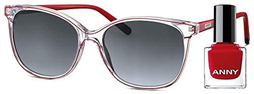 Leeszonnebril Anny eyewear only red + gratis nagellak 966001-505 Variabel
