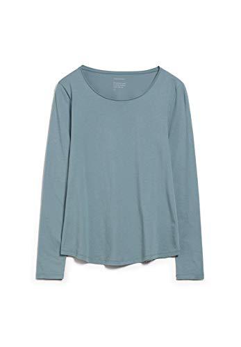 ARMEDANGELS ROJAA - Damen Longsleeve aus Bio-Baumwolle XL Soft Moss Shirts Longsleeve Slim Fit