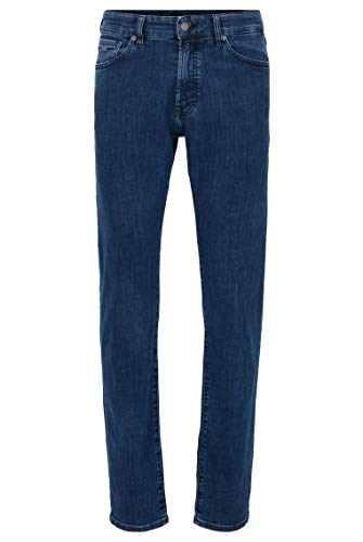 BOSS Herren Maine BC-P Regular-Fit Jeans aus Stretch-Denim in Used-Optik