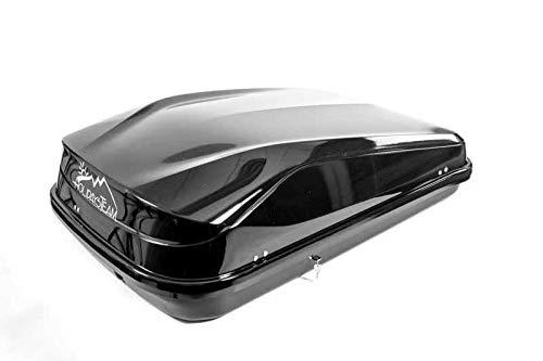 Junior Car Top Roof Box 420L Big Huge Easy Gloss Black Camping