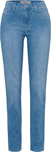 BRAX Damen Style Mary Five-Pocket-Jeans in Leichter qualität Summer Denim Crystal Slim Fit, Used Light Blue, 40