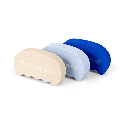 3er SPAR-SET | TheraPIE Handtrainer DELUXE | Therapiegriff | Training der Armmuskulatur und Handmuskulatur | ergonomische Form | 3 verschiedene Widerstände | extra-leicht bis leicht