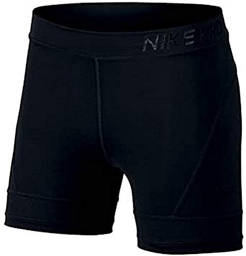Nike Damen Short Pro Hypercool 5In, Black/(Clear), M, 889664-010