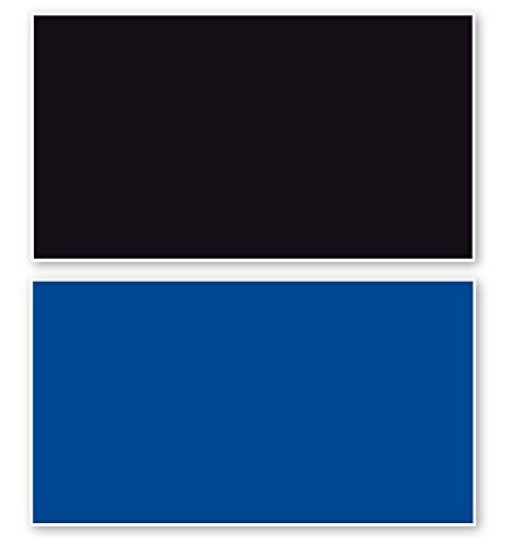 Amtra Deko Fotorückwand Schwarz/Blau beidseitig 100x60cm 2in1 Rückwandposter Rückwand Folie Aquarien Poster Foto Folien