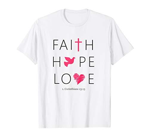 Glaube Liebe Hoffnung christliche Sprüche & Bibelverse T-Shirt