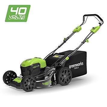 Greenworks Tools 40V Tondeuse 46cm sans Balai avec Roues motrices 2506807(+6Ah accumulateur + Chargeur)