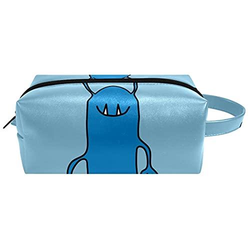 Bolsa de cosméticos y estuche portátil para llevar en viaje Neceser bolsa de maquillaje bolsa de equipaje organizador para hombres y mujeres divertido dibujos animados Alien