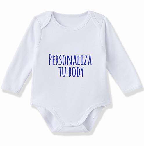 Body Beb/é Personalizado con Nombre 100/% Algod/ón Org/ánicoPastelito Reci/én Hecho 1 mes, Mint