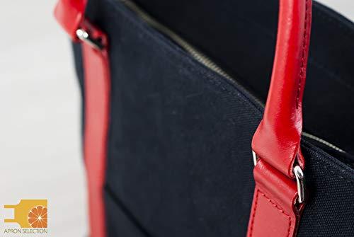 日乃本帆布トートバッグ[ブラック/約32×41×11.5cm]帆布2WAYトートNo,103Mバッグ鞄撥水(ファスナー付き/肩かけ用肩紐付き)