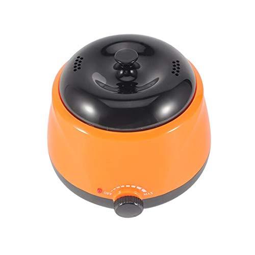 GUTYRE Máquina De Terapia De Cera Inteligente, Máquina De Calentamiento De Cera De Abejas, Calentamiento Rápido, Material Seguro, Utilizado para El Cuidado del Cuerpo Y El Afeitado,Naranja