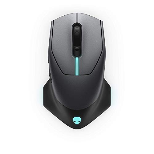 Alienware Wired/Wireless Gaming Mouse AW610M: 16000 DPI Optical Sensor - 350 Hour Rechargeable Battery Life - 7 Buttons - 3-ZONE Alienfx RGB Lighting (Renewed)