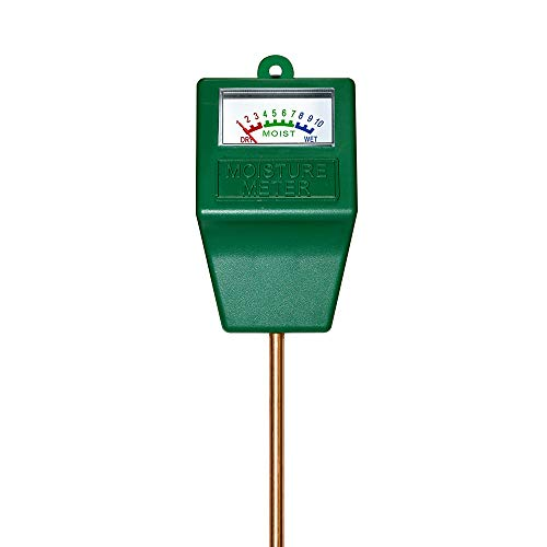 Ruolan Soil Ph Meter for Soil Test Kit with pH Moisture Meter PrecisionTest Soil Ph Plant for Garden Indoor & Outdoor, No Batteries Required… (Square)