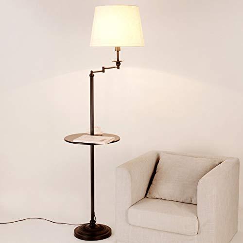 CAI Inicio Lámpara de pie, lectura de pie Led, lámparas de pie creativas americanas Lámparas de sala de estar Lámparas de mesa de piso Lámparas de mesa verticales Bandeja de lámparas verticales Prote