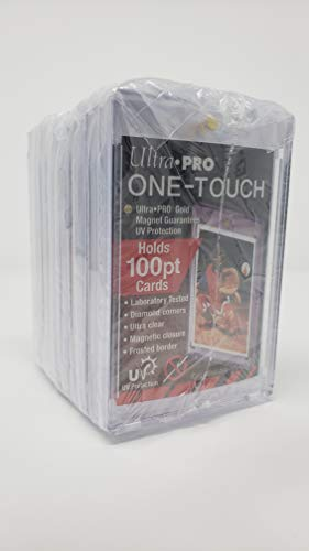 10 Ultra Pro 100pt Magnetic Card Holder Cases - Holds Thick Baseball, Football, Hockey Cards