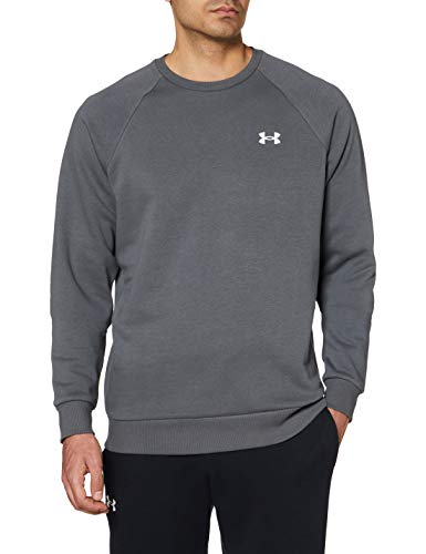 Under Armour UA Rival Cotton Crew Sudadera Ancha, Gris (Pitch Gray/Onyx White), M para Hombre