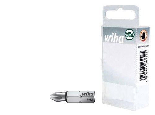 Wiha 7011-94102Phillips Drill Bits 25mm in Plastic Box. 70119220201Z Red PH2(10)