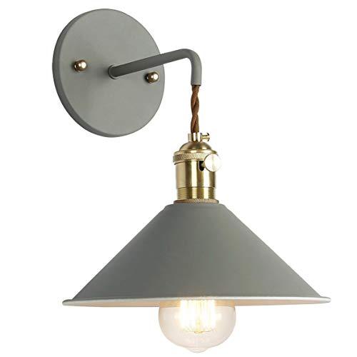 Vintage lámpara de pared Reto aplique E27Antiguo pared Luz metal Espejo Lámpara de proyección Piso iluminación de pared para salón dormitorio Piso Balcón Jardín Escaleras
