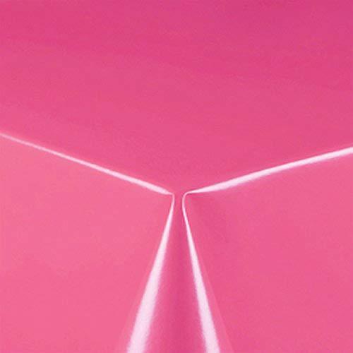 DecoHomeTextil Partytischdecke Partyfolie Lackfolie Tischdecke Größe & Farbe wählbar Eckig 80 x 250 cm Pink Rosa Bierzeltgarntiur