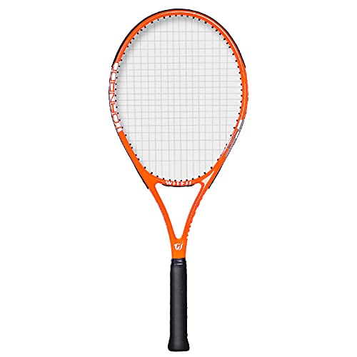 Wopam Raqueta de tenis profesional de fibra de carbono, unisex, para principiantes con bolsa de cuerdas