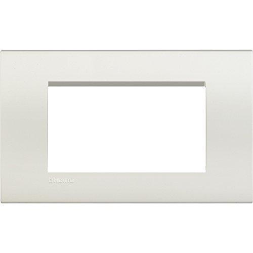 BTicino Livinglight Placca, 4 Moduli, Forma Rettangolare, Bianco