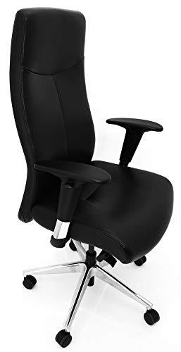 Rovo Chair Bürostuhl/Chefsessel ROVO XL Echtleder schwarz