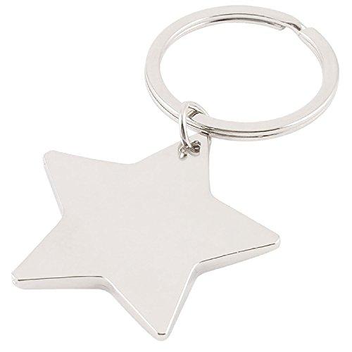 Cinco gezeigten Estrella Colgante Forma Llavero Plata
