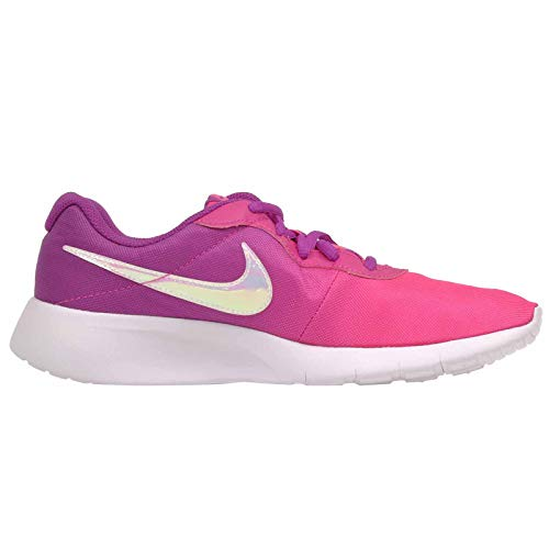 Nike Girls' Tanjun Print Casual Sneakers from Finish Line Size 6Y Hyper Violet/Pink Blast
