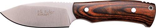 Elk Ridge ER-551 Serie, Taschenmesser  Design Griff DUNKELBRAUN scharfes Messer, 8,89 cm Outdoormesser ROSTFREI Feststehende Klinge für Angeln/ Camping, kompaktes 998gr Messer