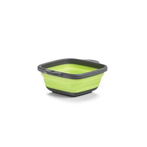 Zeller Falt-Sieb, Kunststoff, anthrazit/grün, ca. 21,9 x 18 x 2,8/7,9 cm