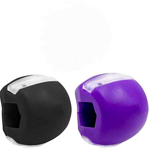 Jaw Exerciser, Jawline Exerciser Jaw, Face, and Neck Exerciser, Jaw Exerciser for Women Men, Facial Exerciser Define Your Jawline, Slim And Tone Your Face (Black+Purple)