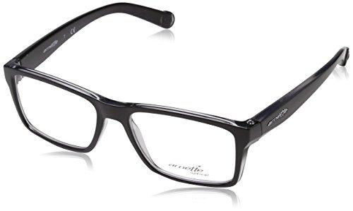 Arnette Synth Monturas de gafas, Black On Clear, 54 para Hombre
