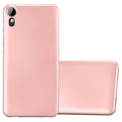 Cadorabo Hülle für HTC Desire 10 Lifestyle/Desire 825 - Hülle in Metall Rose Gold – Hardcase Handyhülle im Matt Metal Design - Schutzhülle Bumper Back Case Cover