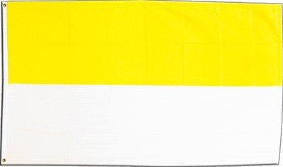 Flaggenfritze Fahne/Flagge Streifen gelb-weiß + gratis Sticker
