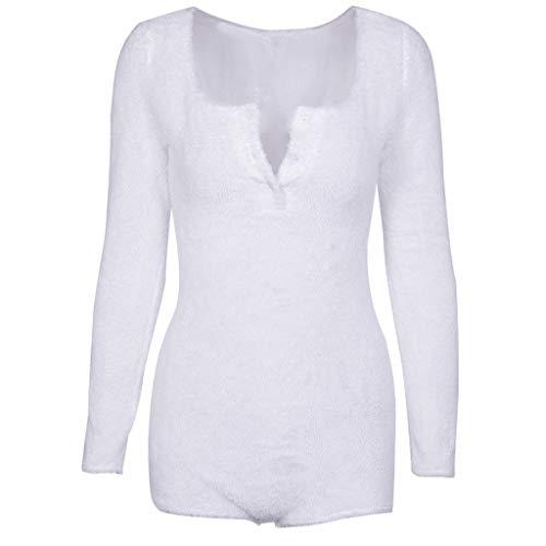 Femme Sexy Button Solid Color Plus Velvet Bottoming Shirt Jumpsuits Tops Collants décontractés Slim Slip de Combinaison Manches Longues