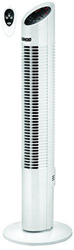 Unold 86850 TURMVENTILATOR Tower, Zuschaltbare Oszillation, 3 Stufen, Timer-Funktion, Fernbedienung, Weiß, 30W, 30 W, 230 V