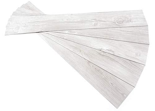 ROSEROSA Peel and Stick Engineered PVC Plank Wood Pattern Durable Vinyl Flooring (ECK-909 : 5 Planks)