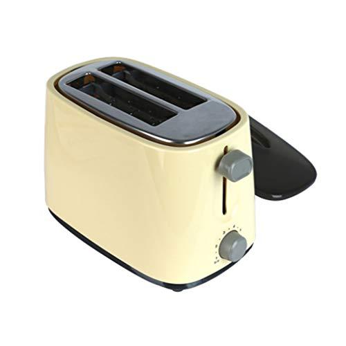 KM- Grille-pain, grille-pain en acier inoxydable à 2 tranches, grille-pain à deux tranches, en acier inoxydable, avec 7 réglages d'ombre pour le pain, décongeler/réchauffer