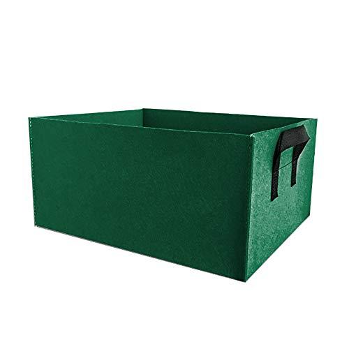 Monarchy - Bolsas cultivo rectangulares para plantas, 5 unidades, fieltro, plantar verduras, macetas cuadradas, tela con asas, uso aire libre, interior, ensalada tomate, patata, flores, jardinería