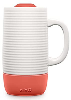 Textured Ceramic Travel Cup With No-Slip Silicone Boot