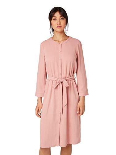 Tom Tailor Blusen Vestido, Rosa (Vintage Rose 10879), 40 (Talla del Fabricante: 38) para Mujer