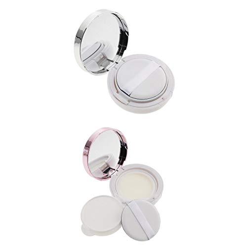 joyMerit 2X Caja de Contenedor de Crema de Caja de Soplo de Cojín de Aire Portátil de Lujo Vacío