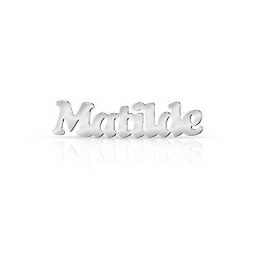 Orecchini con nome Argento (Matilde)