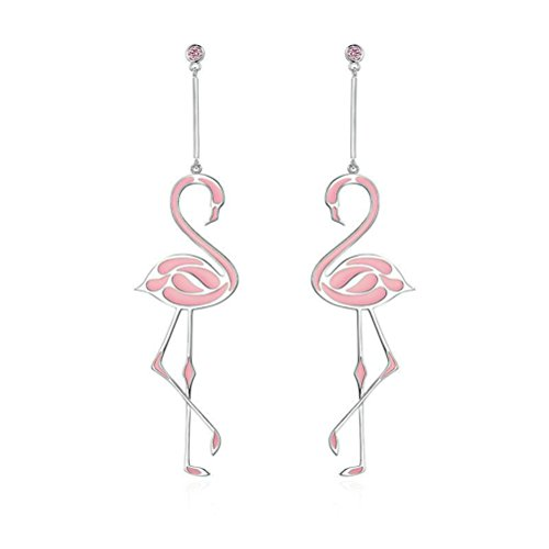 BESTOYARD Flamingo Earrings Fashion Romantic Tassel Earrings Jewelry para Mujeres Niñas
