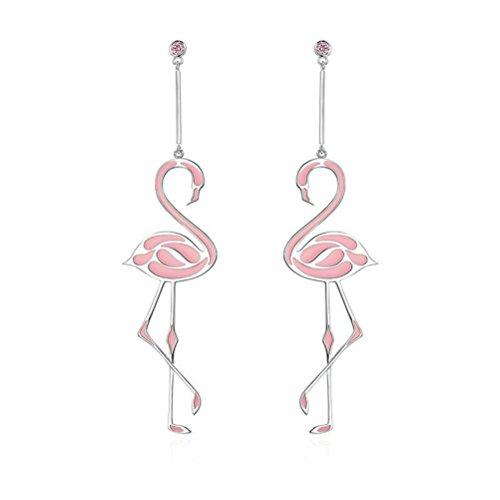 BESTOYARD Flamingo Ohrringe Mode Romantische Quaste Ohrringe Schmuck für Frauen Mädchen