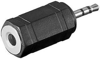 paquete de 2 chapado en oro de 2.5 mm hembra a 3.5 mm macho de 4 polos Jack est/éreo para auriculares Audio para auriculares Conector convertidor NOWBOTUCH 3.5mm Masculino a 2.5mm Femenino Adaptador