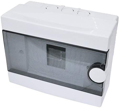 AERZETIX - Cuadro Eléctrico - Cuadro de Distribución/Modular - 180x140x90mm - De pared - Soporte - Fijación - 6 Módulos - IP40 - C44885