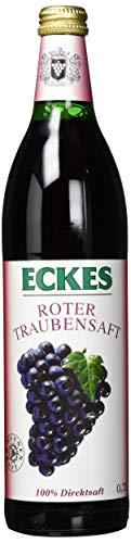 Eckes Roter Traubensaft - 100% Direktsaft, 6er Pack (6 x 750 ml)