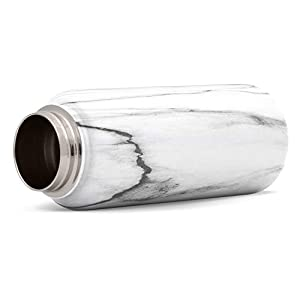 Simple Modern SMC-S-32-CM 32 oz Summit Water Bottle with Straw Lid-Gifts for Men & Women Hydro Vacuum Insulated Tumbler Flask Double Wall Liter-18/8 Stainless Steel, Pattern: Carrara Marble