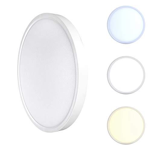 DEMODU® LUNA LED Wand- Deckenleuchte extra flach rund weiß 30cm 24W 150lm/W 3600lm ersetzt 260W IP40 leistungsstark Lichtfarbe einstellbar Flimmerfrei modern