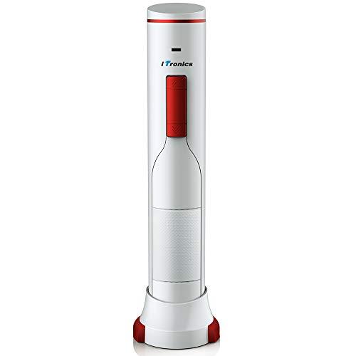 iTronics Cavatappi Eelettrico Apribottiglie Vino Professionale con Taglia-Capsula e Cavo di Ricarica USB, Apre Fino a 180 Bottiglie, Amanti del Vino e Enologia